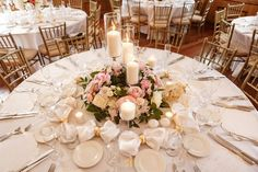 NYIT de Serversky Mansion Spring Wedding filled with blush and ivory. — New York Wedding Florist Peonies Wedding Centerpieces, Blush Centerpiece, Wedding Table Centerpieces, Wedding Flower Arrangements, Centerpiece Ideas, Wedding Decorations, Candle Centerpieces, Pillar Candles, Floral Arrangements