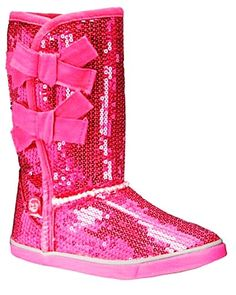 Sparkle Pink UGG Girls Sequin Boots With Bowknots #ugg #sequin #boots www.loveitsomuch.com