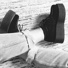 The classic combo by @suzecato  How do you combine your creepers? Get yours now at our shop:  ATTITUDEHOLLAND.NL | We ship worldwide