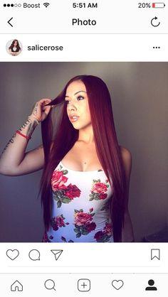 My idol ❤❤ Peinados Pin Up, Dark Red Hair, Rose Nails, Rose Tattoos, Pretty People, My Hair, Dope Hair, Redheads, My Idol