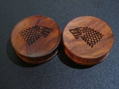 Handmade Organic Wooden Ear Plugs  Custom Made w/ by ULEKstore, $22.00