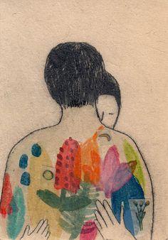 Art Et Illustration, Illustrations, Bird People, Drawing Journal, Art Design, Art Tips, Figure Drawing, Aesthetic Wallpapers, Printmaking