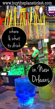 Where & what to drink in New Orleans! New Orleans is one of the best places to drink in the US. Be sure you're prepared so you don't miss out on the best places to go!
