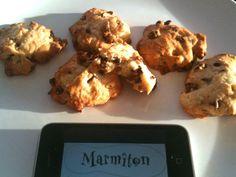 Cookies chocolat, raisins et pignons