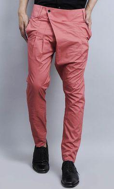 pink cotton men casual pants