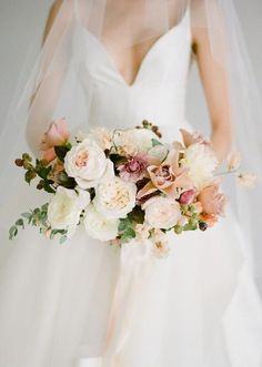 Darling, delicate and oh-so-dreamy: that's how we'd describe this ethereal rose bridal portrait inspiration from Kelli Durham Photography! Spring Wedding Bouquets, Bride Bouquets, Flower Bouquet Wedding, Floral Wedding, Flower Bouquets, Exotic Wedding, Pink Bouquet, Spring Weddings, Miami Wedding