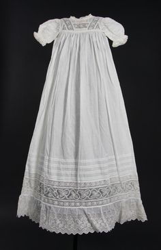 Object: Christening gown | Collections Online - Museum of New Zealand Te Papa Tongarewa Baby Christening Dress, Baptism Dress, Baby Gown, Victorian Children's Clothing, Vintage Clothing, Smocking Baby, Frocks And Gowns, Smocked Baby Dresses, Blessing Dress