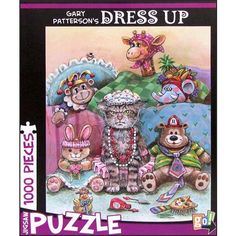 Gary Patterson Dress Up 1000 Piece Puzzle: Any cat lover will love piecing together this humorous jigsaw puzzle featuring a very dressed up and very grumpy cat.  http://www.calendars.com/1000-Piece-Puzzles/Gary-Patterson-Dress-Up-1000-Piece-Puzzle/prod201300018543/?categoryId=cat490012=cat490012