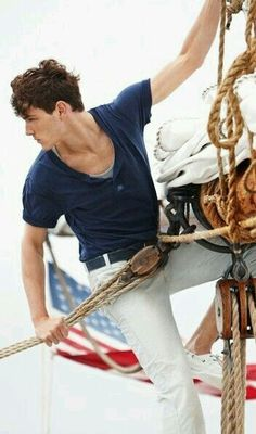 Sail a boat, drive a manual car, fly a plane, weld sculptures. As long as it's something. Men's Sailing, Sailing Style, Fleet Week, Nautical Fashion, Nautical Style, Nautical Marine, Le Male, Preppy Style, Preppy Casual