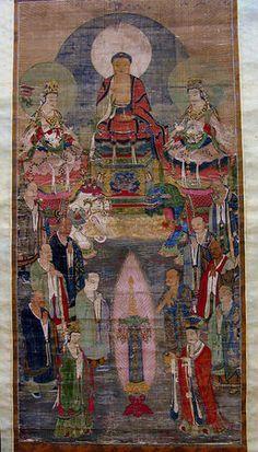 Buddha Shakyamuni with Manjushri and Samantabhadra, late 12th–early 13th century, Jin dynasty (1115–1234)–Yuan dynasty (1271–1368), China.