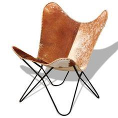 Echtleder Relax Sessel Butterfly Schmetterling Stuhl Stühle Design Vintage  #; EEK Asparen25.com ,