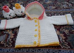 Ravelry: Hooded Infant Sweater pattern by Carol Ballard