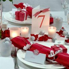 un tocco di rosso per un matrimonio natalizio
