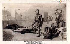 Fotos de , , México: Episodio de La Conquista, pintura de Félix Parra