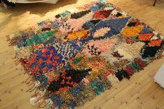 Vintage Boucherouite Rug FREE UK SHIPPING by BazarMehdi on Etsy