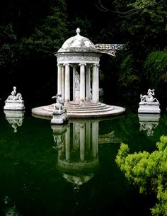 Genoa Pegli Villa Durazzo Pallavicini - Temple of Diana, Province of Genoa, Italy -- photo by Rosanna Angelini Dark Green Aesthetic, Aesthetic Art, By Any Means Necessary, Slytherin Aesthetic, Draco Malfoy, Abandoned Places, Places To See, The Good Place, Beautiful Places