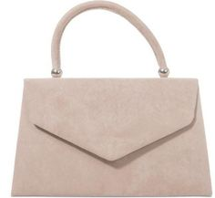 d1a092c99ecf A small nude beige coloured faux suede structured grab bag shoulder bag The  bag fastens with