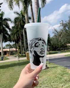 Personalized Starbucks Cup, Custom Starbucks Cup, Starbucks Tumbler, Starbucks Drinks, Personalized Cups, Custom Cups, Custom Vinyl, Tupac Pictures, Tumblr Cup