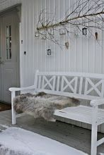 Front porch in winter