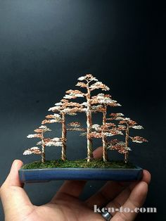 Large 5-tree wire bonsai tree forest by Ken To by KenToArt.deviantart.com on @DeviantArt