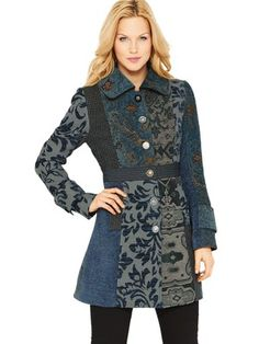 From Russia with Love Coat by Joe Browns Lovely! Unusual jacket with interesting textures patterns and patchwork