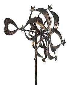 Look what I found on #zulily! Spiraling Stars Kinetic Garden Stake #zulilyfinds