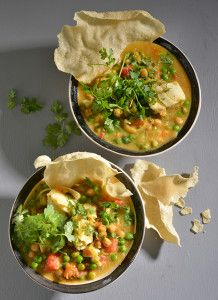 Chickpeas add a delicious texture to this Curried Fish Soup. Hake works particularly well in this dish.