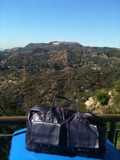 Hollywood Sign, Purple Leather, Fair Trade, Designer Handbags, Distance, British, Tours, Tote Bag, Fair Trade Fashion
