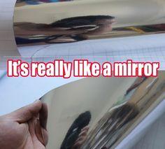 "Bubbles Free - 12"" x 60"" Silver Mirror Chrome Film Wrap Sheet Car Vinyl Sticker  #doremi"