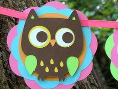 Owl Birthday Banner 2