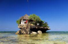岩の上のレストラン