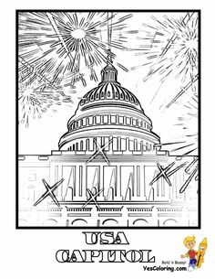 Stand Tall July Coloring Pages