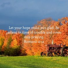 Romans Let your hope make you glad. Be patient in time of trouble and never stop praying. Bible Verse Pictures, Scripture Verses, Bible Verses Quotes, Bible Scriptures, Faith Quotes, The Lord Reigns, Soli Deo Gloria, Bible Encouragement, Romans 12