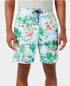 f567d22c9c Men's Baja Aloha Surf Tropical-Print 9 Board Shorts