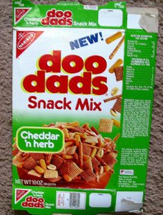 late 1980s Doo-Dads Snack mix ...  I miss these!!!!!