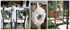 chair and pew wreaths
