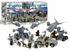 Recreate your favourite scenes from the blockbuster 'The Terminator' movies with this superb value building block set, The #Terminator Buildable Construction Playset, from #Best-Loc Construction Toys. Containing over 1,000 pieces.