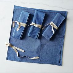 Denim Flatware Place Setting: All tied up and ready to picnic. #food52