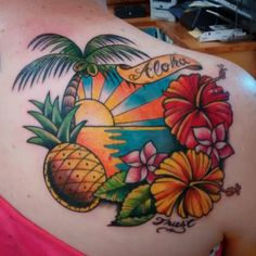 ... of Hawaii's beauty in tattoo form:) #tattoo #matthawkins #hawaii #hilo…