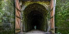 Explore the abandoned train tunnels along the Elroy-Sparta State Trail - America's First Rails-to-Trails Project! Hike, bike, or walk for an afternoon of FUN in Wisconsin!