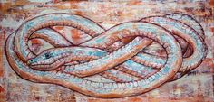 Painting, art, snake, power, rebirth, eternity