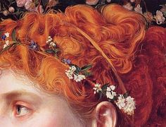 detail of Perdita by Anthony Frederick Sandys, circa 1866