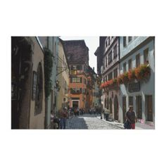 #Rothenburg, #Germany, I love that place, I used to take my daughter there almost every weekend when I lived in Germany. Rothenburg ob der Tauber Canvas Prints