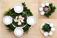 use Siggis yogurt containers Siggis Yogurt, Xmas, Christmas, Table Settings, Table Decorations, Home Decor, Decoration Home, Room Decor, Navidad