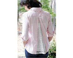 Tutorial: Lace back blouse refashion