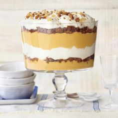 Best-Ever Pumpkin Desserts | Ginger-Pumpkin Trifle with Vanilla Mascarpone Cream  | MyRecipes.com