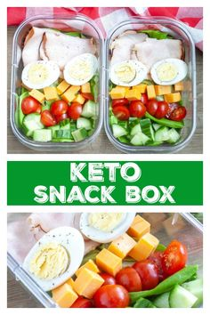 These make ahead snack boxes are great for a quick Keto snack or meal. Filled wi… These make ahead snack boxes are great for a quick Keto snack or meal. Filled with turkey, eggs, cheese, tomatoes and cucumbers. Keto Lunch Ideas, Lunch Recipes, Keto Recipes, Healthy Recipes, Loaf Recipes, Snacks Ideas, Ketogenic Recipes, Chili Recipes, Shrimp Recipes