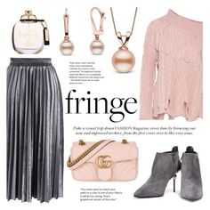 """Fringe"" by pearlparadise ❤ liked on Polyvore featuring Chicwish, Philosophy di Lorenzo Serafini, Gucci, Coach, fringe, contestentry, pearljewelry and pearlparadise"