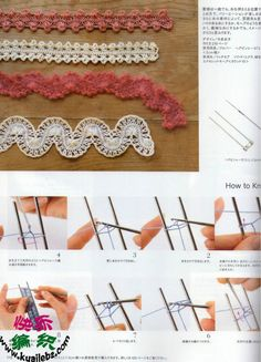 hairpin lace crochet Tutorial for Crochet, Knitting. Hairpin Lace Crochet, Hairpin Lace Patterns, Crochet Motifs, Crochet Diagram, Crochet Stitches Patterns, Crochet Chart, Knit Or Crochet, Crochet Designs, Broomstick Lace