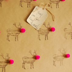 Rudolph Christmas paper